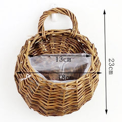 Wall Hanging Natural Wicker Basket