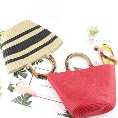 fashion bamboo  handbags  straw