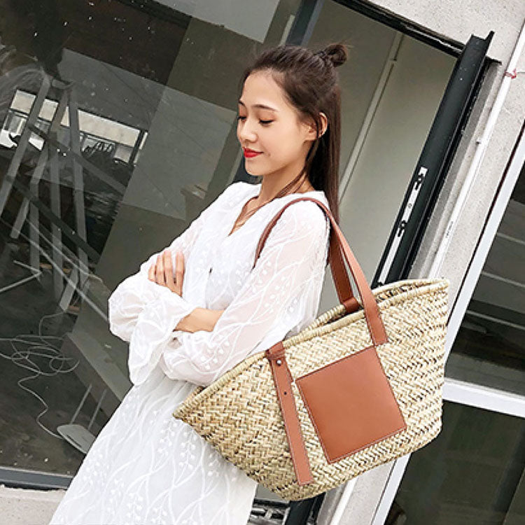 Rattan Elegant Straw  Luxury Handbag