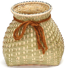 Handmade Natural Bamboo Weaving Storage Basket Container