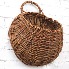 Rattan Vase Basket Natural Wicker  Wall Hanging Decor