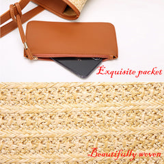 Fashion Women Hand-Woven Rattan Bag