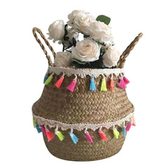 Wicker Basket Storage Basket Rattan Flower  Hanging