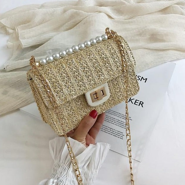 handBag Rattan Woven Bag Summer Chain Crossbody