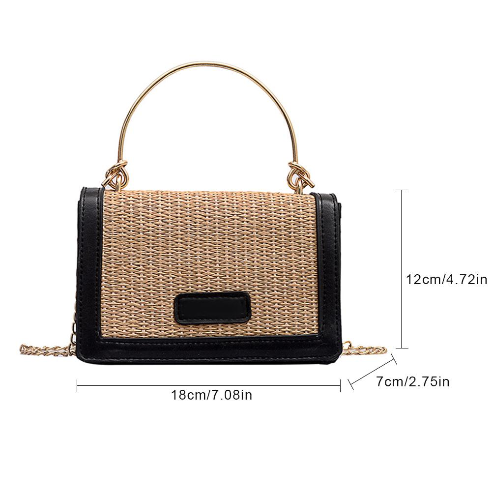 Handwoven Square Rattan Bag Shoulder