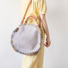 Large round Summer Beach Bag Purse