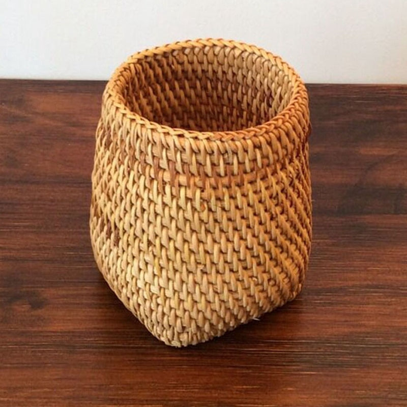 Rattan  Storage Box Home Organizer