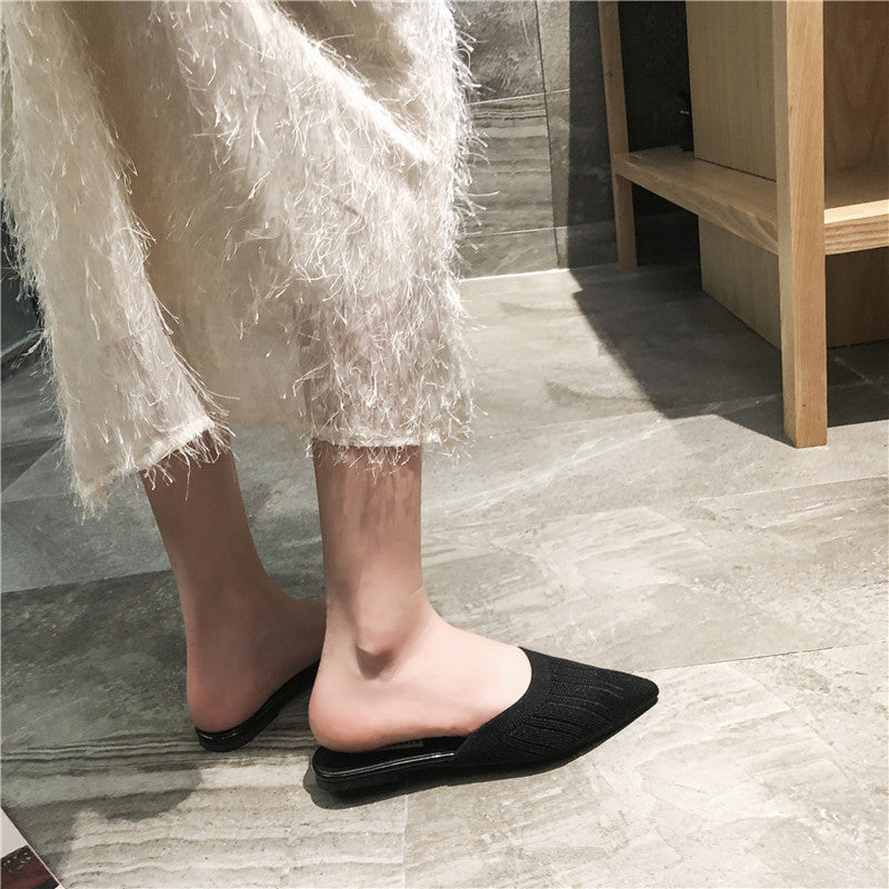 New Women's Summer Solid Slipper Flat Sandal
