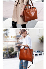 Leather Handbag Casual Female
