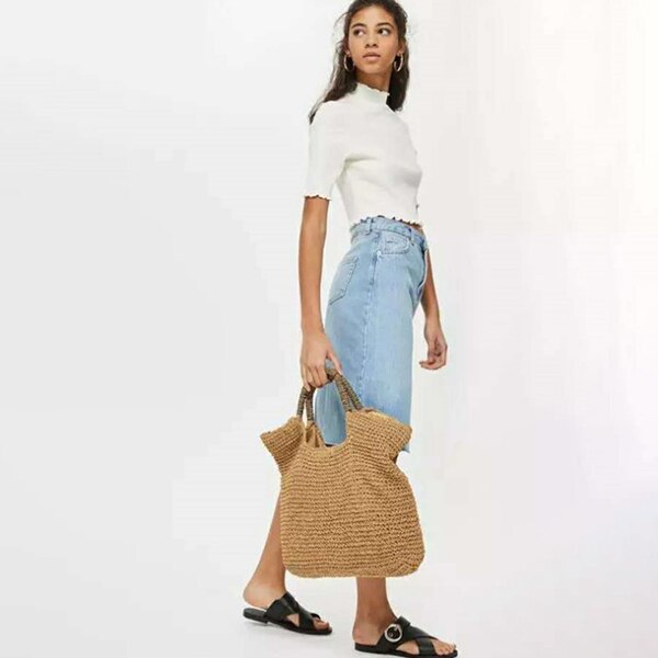 Fashion Summer Round Straw Bag