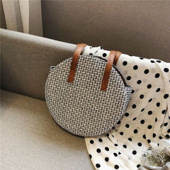 Girl Bag Round Straw