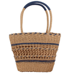 Holiday Wicker Straw Woven Bag