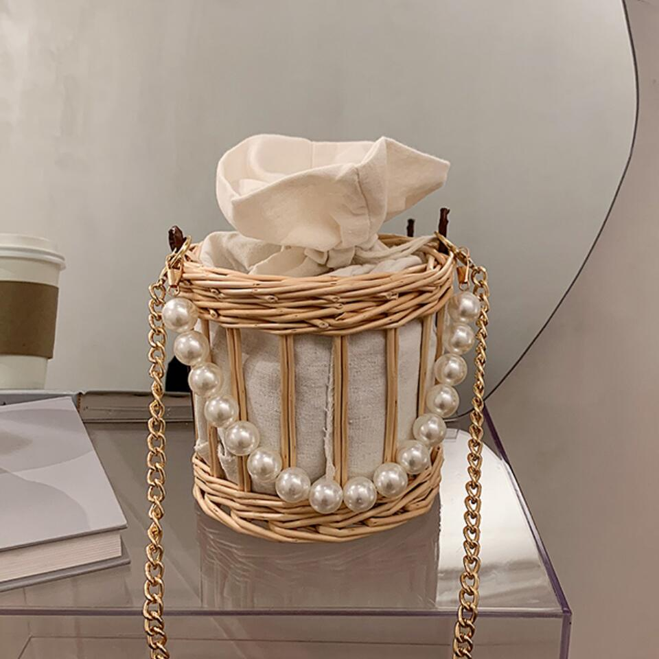 Elegant Female Pearl Tote bag 2020 high quality