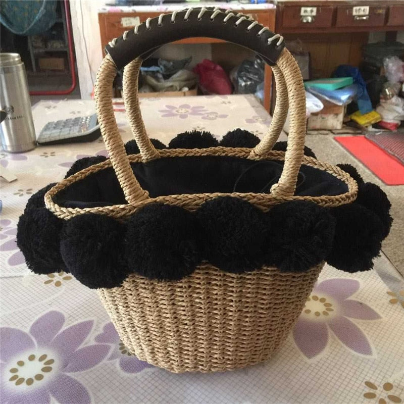 beach bag straw totes bag summer high quality