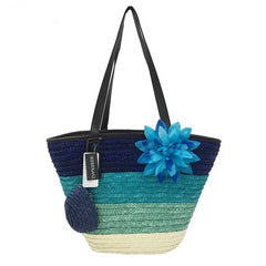 Straw Bag Wheat Pole Weaving Women's Handmade Bag, Summer Sea