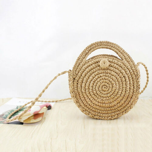 2020 New Fashion Crossbody Bags Round Handwoven Rattan Circle