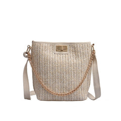 New straw bag women's fashion shoulder bag hand-woven rattan