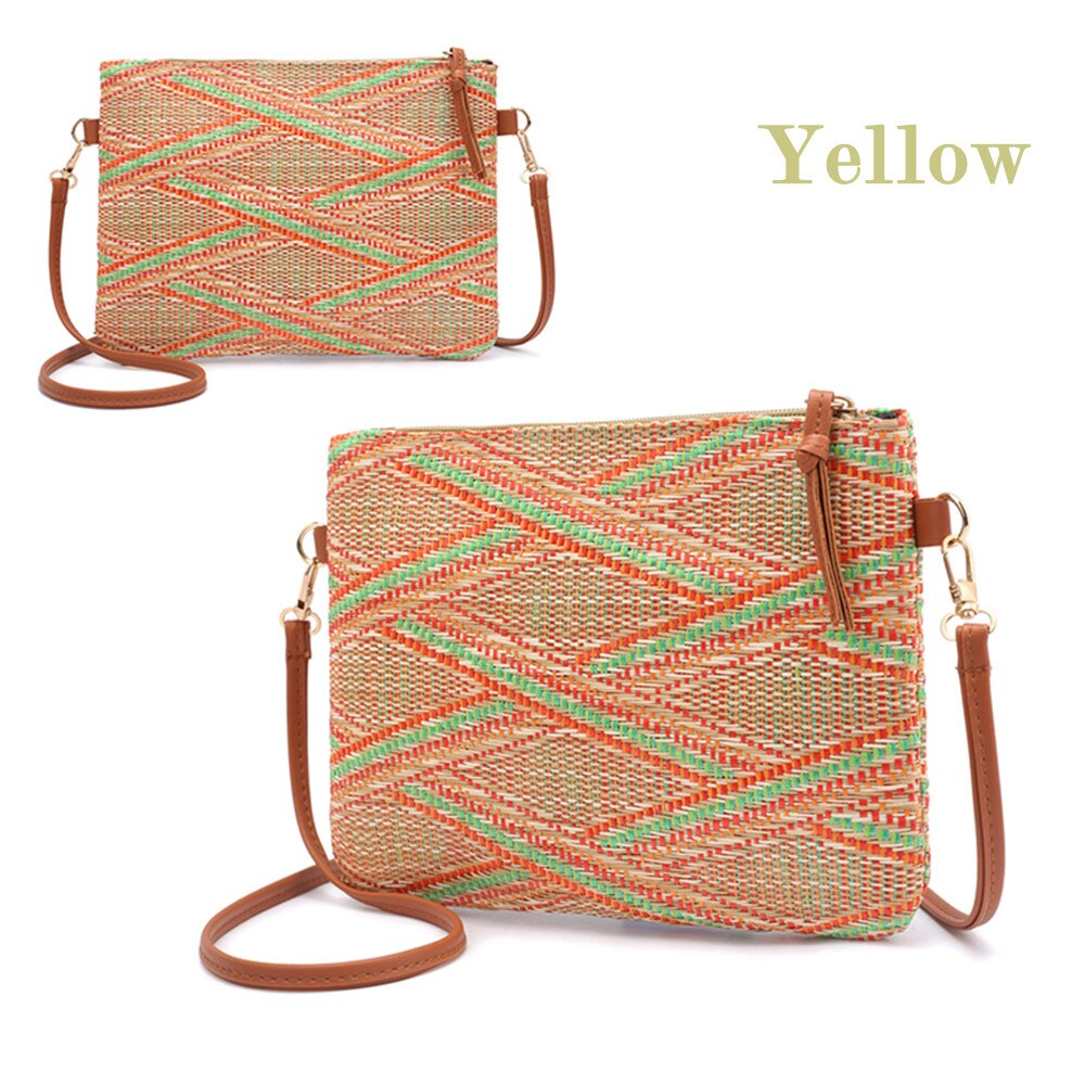 Fashion Woven Crossbody Bag Rattan 2019