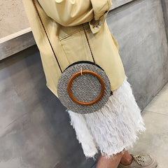 Crossbody Round bolsa Straw Bag