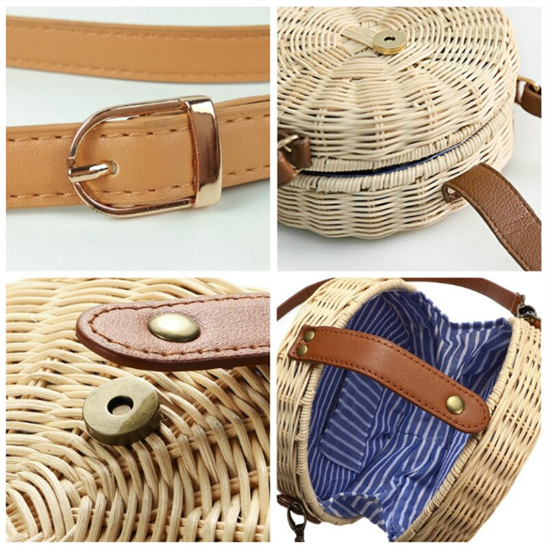 Straw women Bag Rattan Handmade