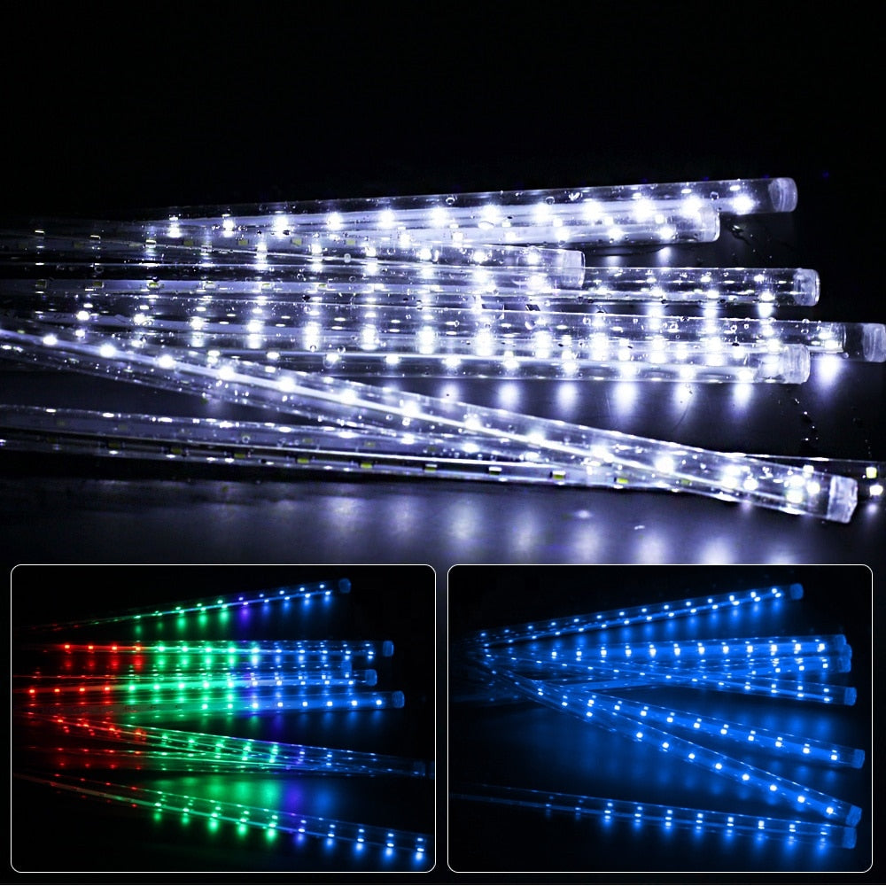 Outdoor Meteor Shower LED String Lights - Sleekily