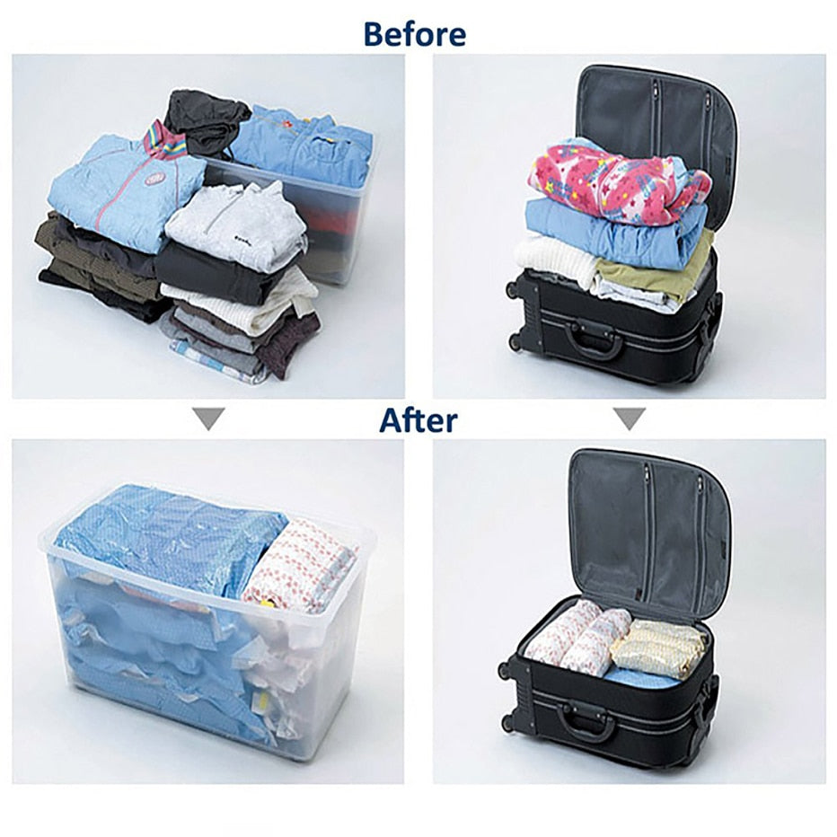 Clothes Compression Storage Bags - Sleekily
