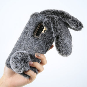 Rabbit Fur Case For Samsung Galaxy - Sleekily