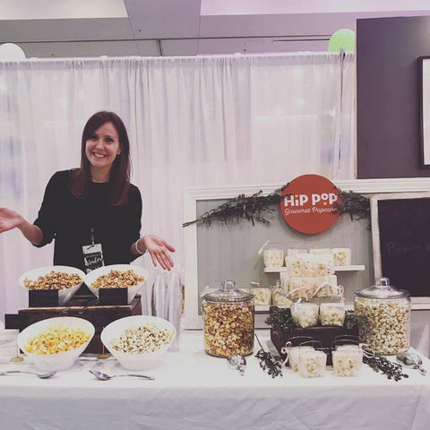 Heather, owner and founder of Hip Pop Gourmet Popcorn