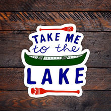 Load image into Gallery viewer, Take Me to the Lake Vinyl Sticker