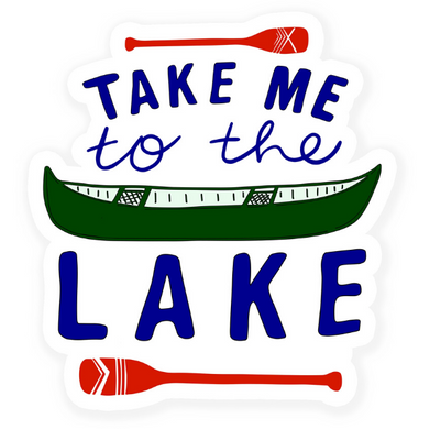 Take Me to the Lake Vinyl Sticker