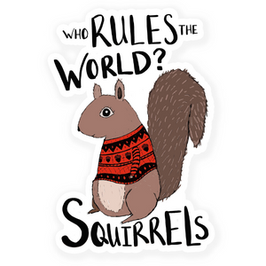 Squirrels Vinyl Sticker