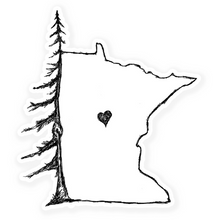 Load image into Gallery viewer, Pine MN Heart Vinyl Sticker
