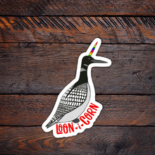 Load image into Gallery viewer, Loon i Corn Vinyl Sticker