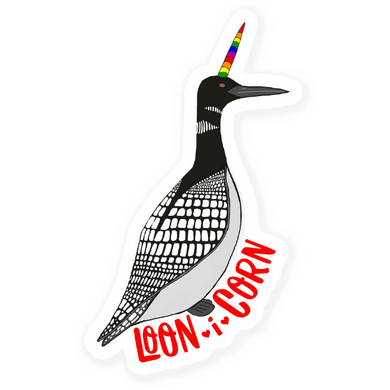 Loon i Corn Vinyl Sticker