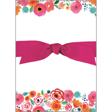 Load image into Gallery viewer, Chunky Bow Pad - Roses & Poppies