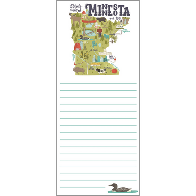 Shopping List Pad - Minnesota