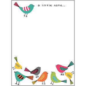 Memo Note Pad - Birds