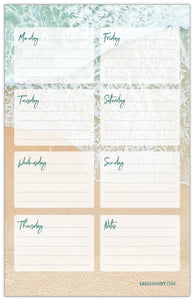 Notepad, Beach Weekly Plan