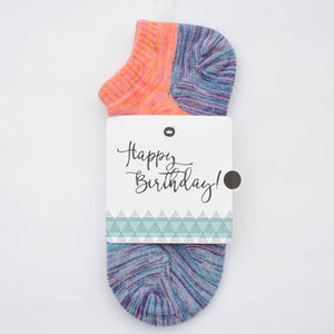 Lollidale Happy Birthday Sock Card - Her