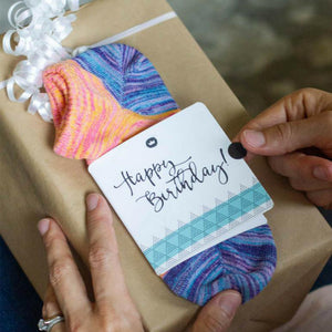 Happy Birthday Sock Card - Her