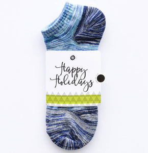 Happy Holidays Sock Card - Him