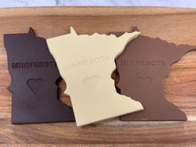 Load image into Gallery viewer, Minnesota Shaped White Chocolate