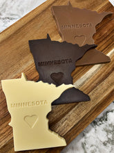 Load image into Gallery viewer, Minnesota Shaped Dark Chocolate