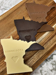 Minnesota Shaped Dark Chocolate