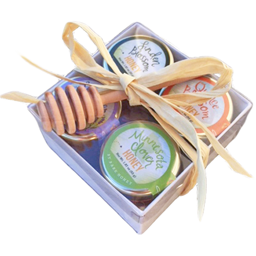 Bare Honey, Pure Honeys Variety Gift Set with Dipper