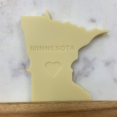 Minnesota Shaped White Chocolate