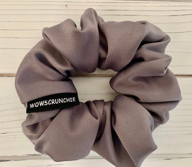 2021 Scrunchie Grey Satin - Wow Design Studio