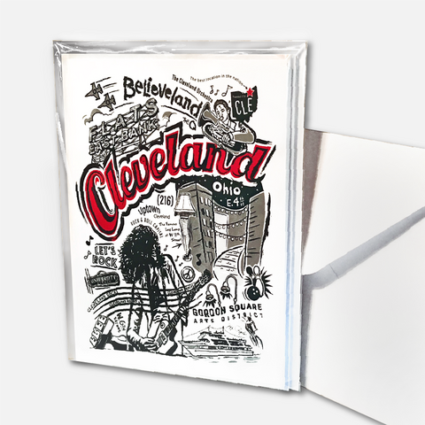 "Cleveland ""Believeland"" Note Cards"