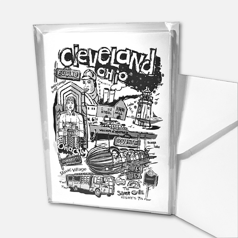 "Cleveland ""Nostalgia"" in Black & White Note Cards"