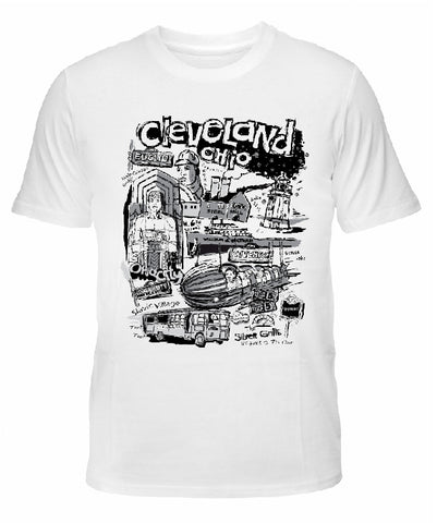 "Cleveland ""Nostalgia"" in Black & White T-shirt"